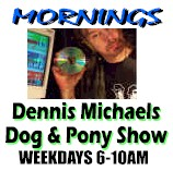 Dennis Michaels jumps in at 6:00AM Pacific and starts up the 60s and 70s Classics with 7 in a row every hour  and only two commercial breaks. Click the pic for our weekday schedule.