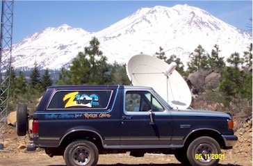 View from the KZRO-FM Transmission Tower at Broadcast Ridge, Mount Shasta
